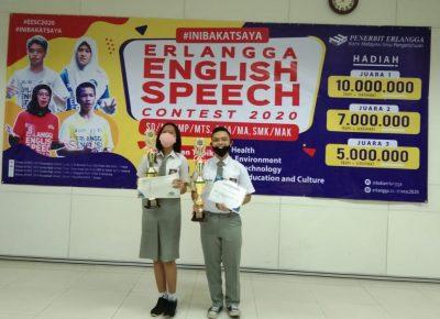 Erlangga English Speech Contest (EESC), Siswa SMK Grafika Bina Media Meraih Juara 2 dan 3